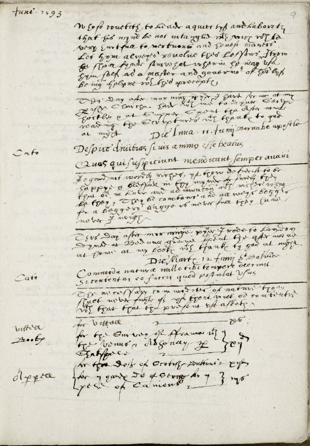 Diaries of Richard Stonley, May 14, 1593 - May 24, 1594.