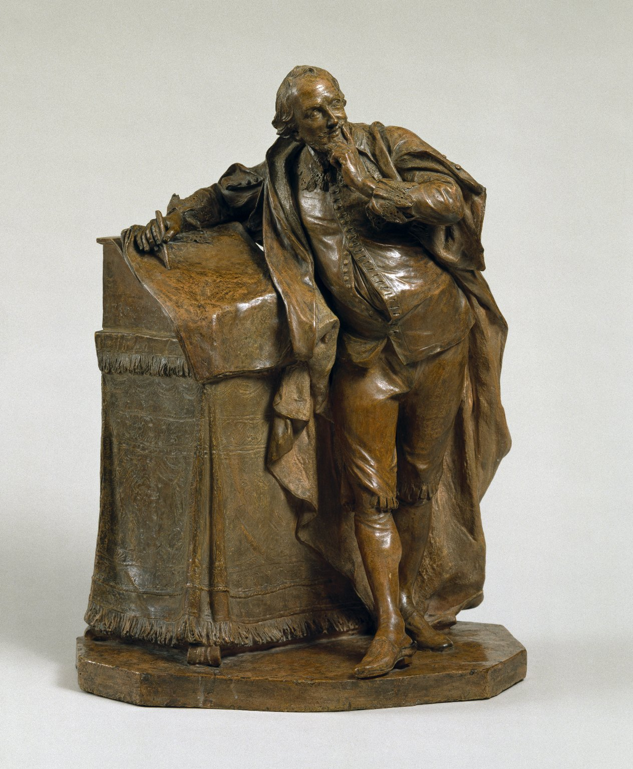 Sculpture of Shakespeare: Study for statue for David Garrick's Shakespeare Temple.