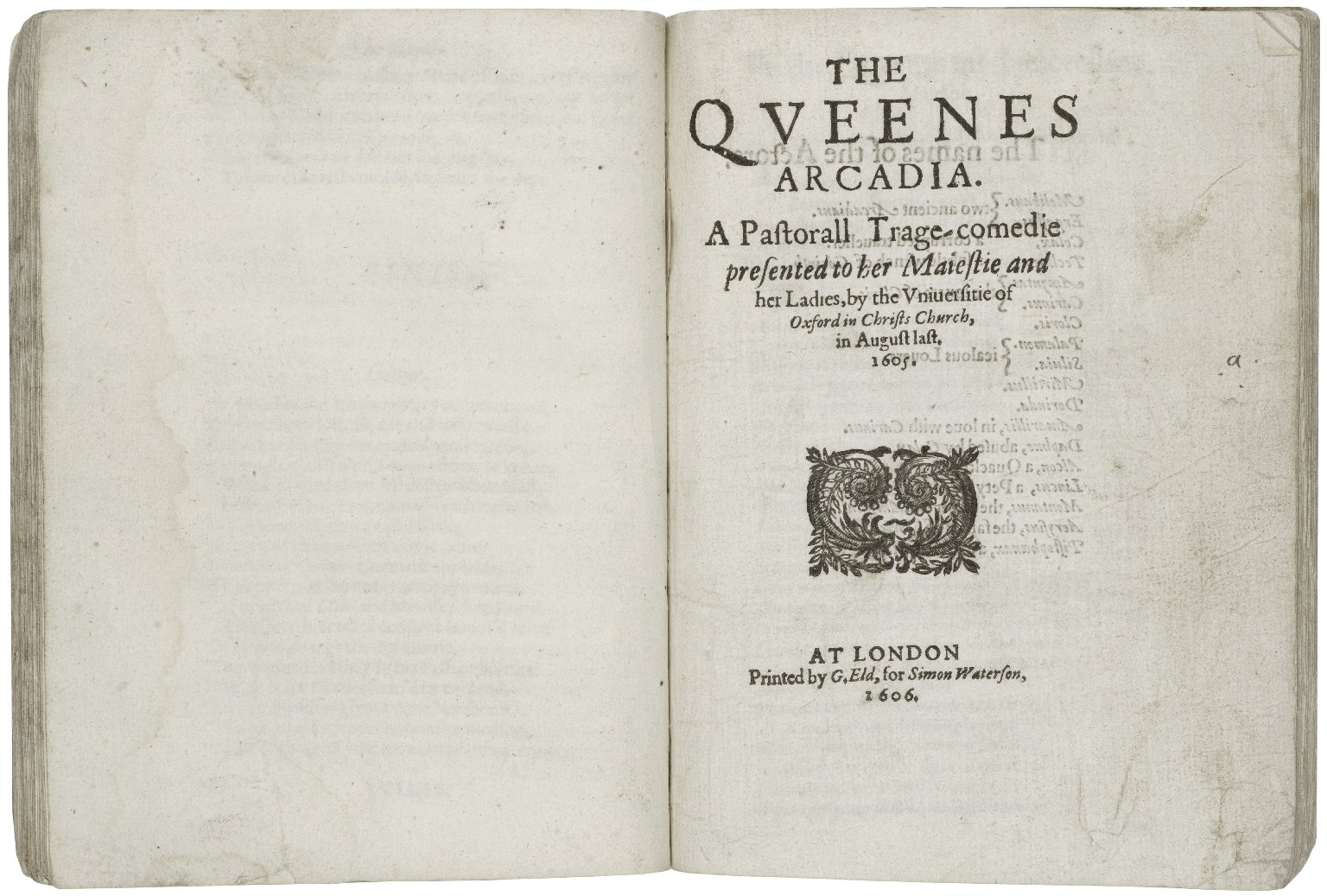 [Pericles] The late, and much admired play, called Pericles, Prince of Tyre. and The Queenes Arcadia.