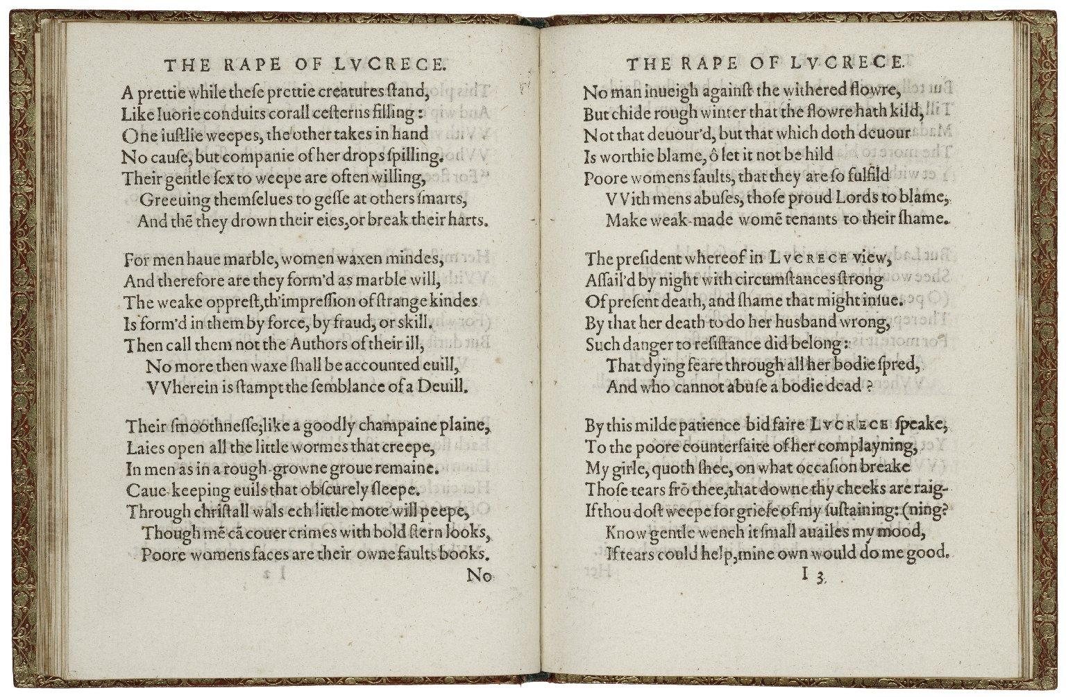 [Rape of Lucrece] Lucrece.