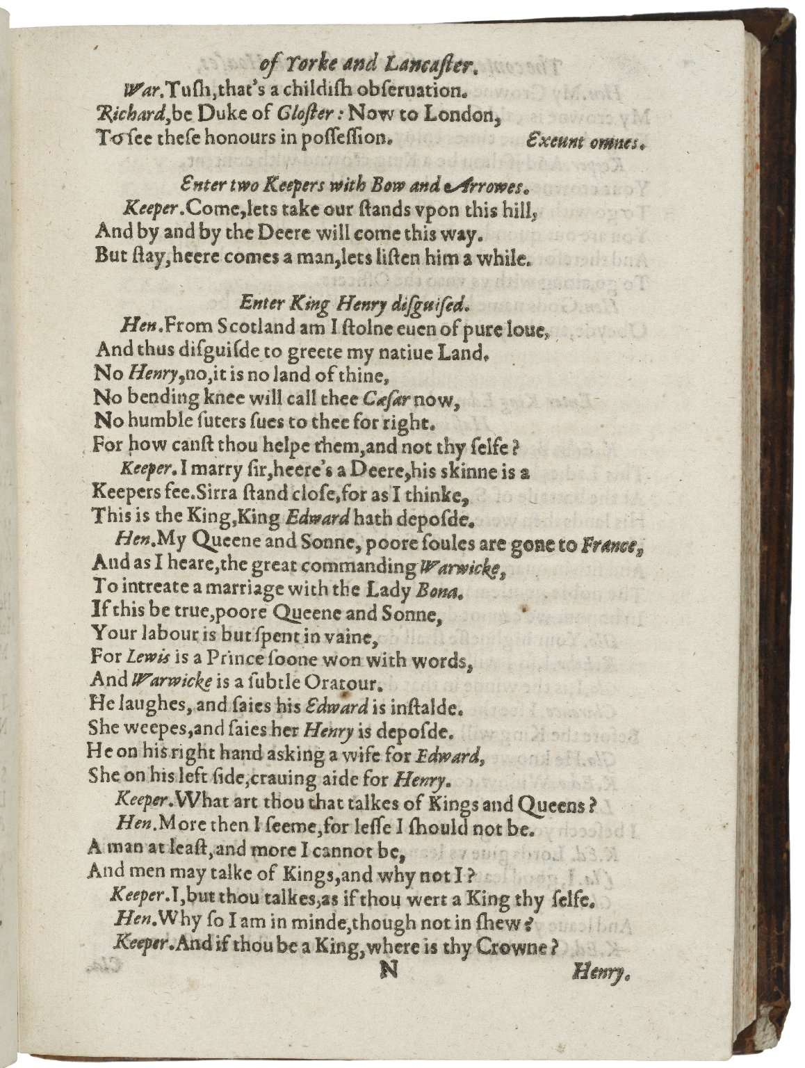 [King Henry VI. Part 2-3] The vvhole contention betvveene the tvvo famous houses, Lancaster and Yorke.