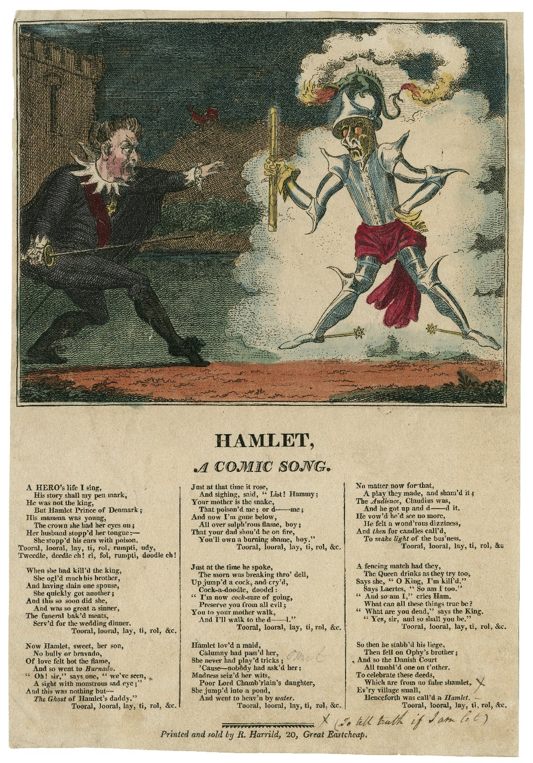 Hamlet, a comic song ... [graphic].