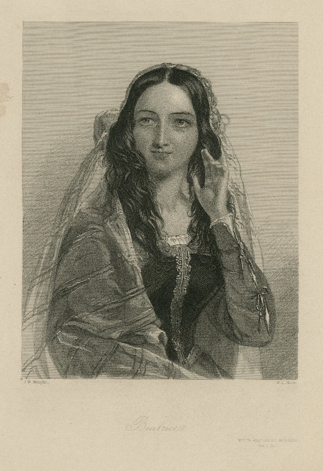 Beatrice, [character in] Much ado about nothing [graphic] / J.W. Wright ; W.H. Mote.