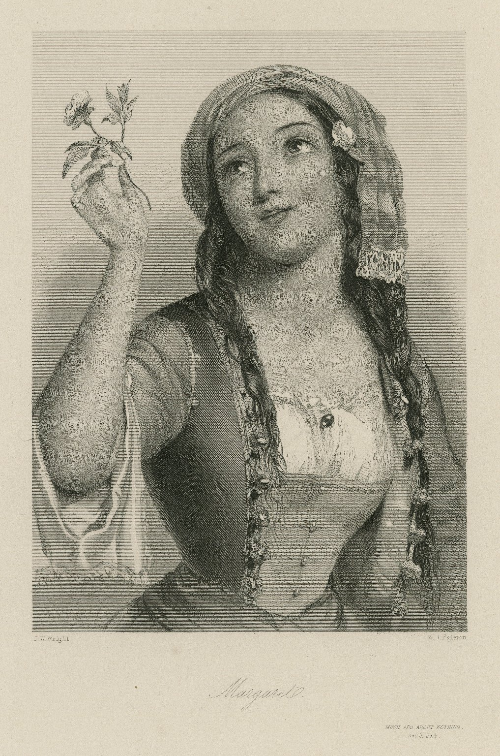 Margaret, [character in] Much ado about nothing [graphic] / J.W. Wright ; W.H. Egleton.