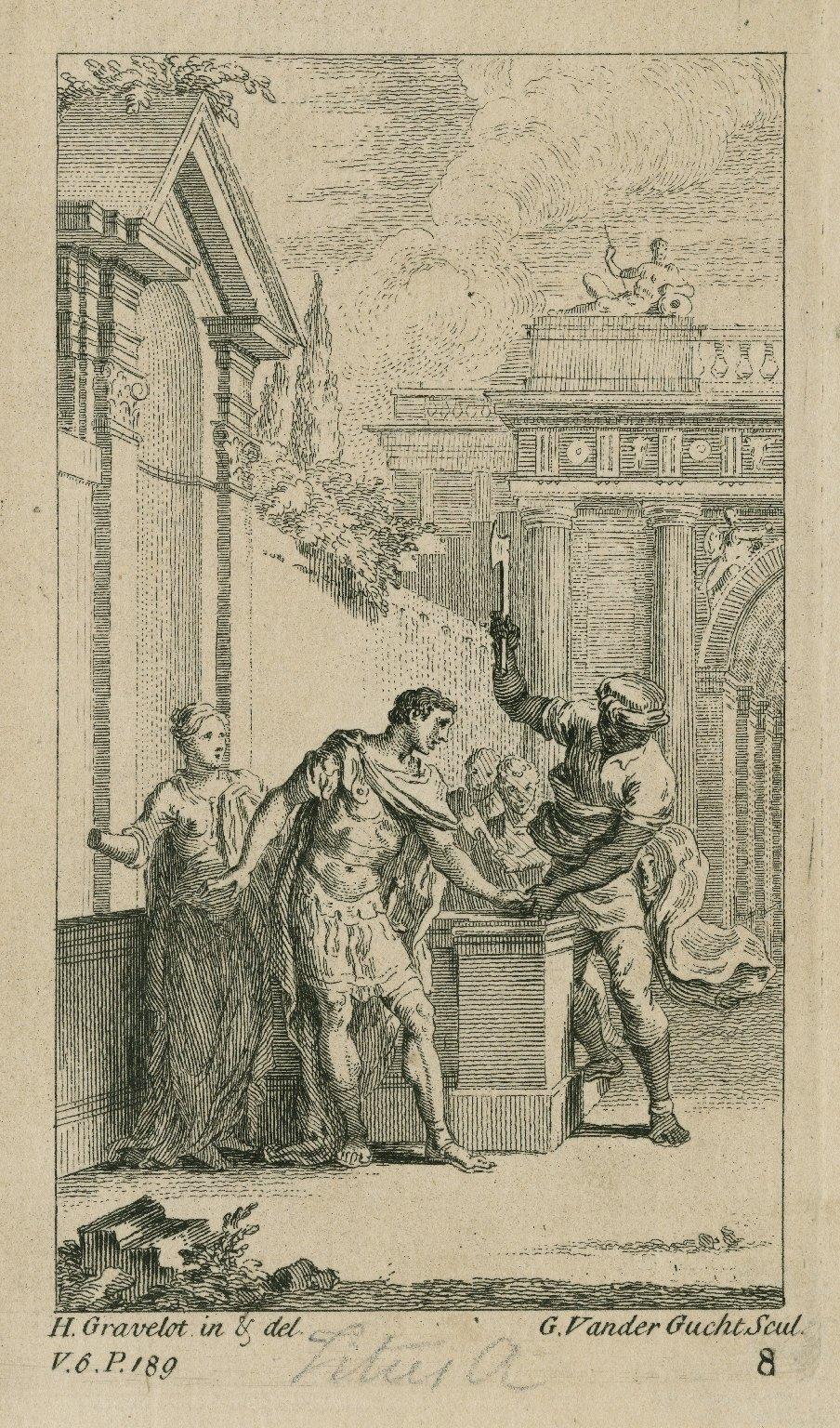 [Titus Andronicus, act III, scene 1] [graphic] / H. Gravelot in & del. ; G. Vander Gucht Scul.