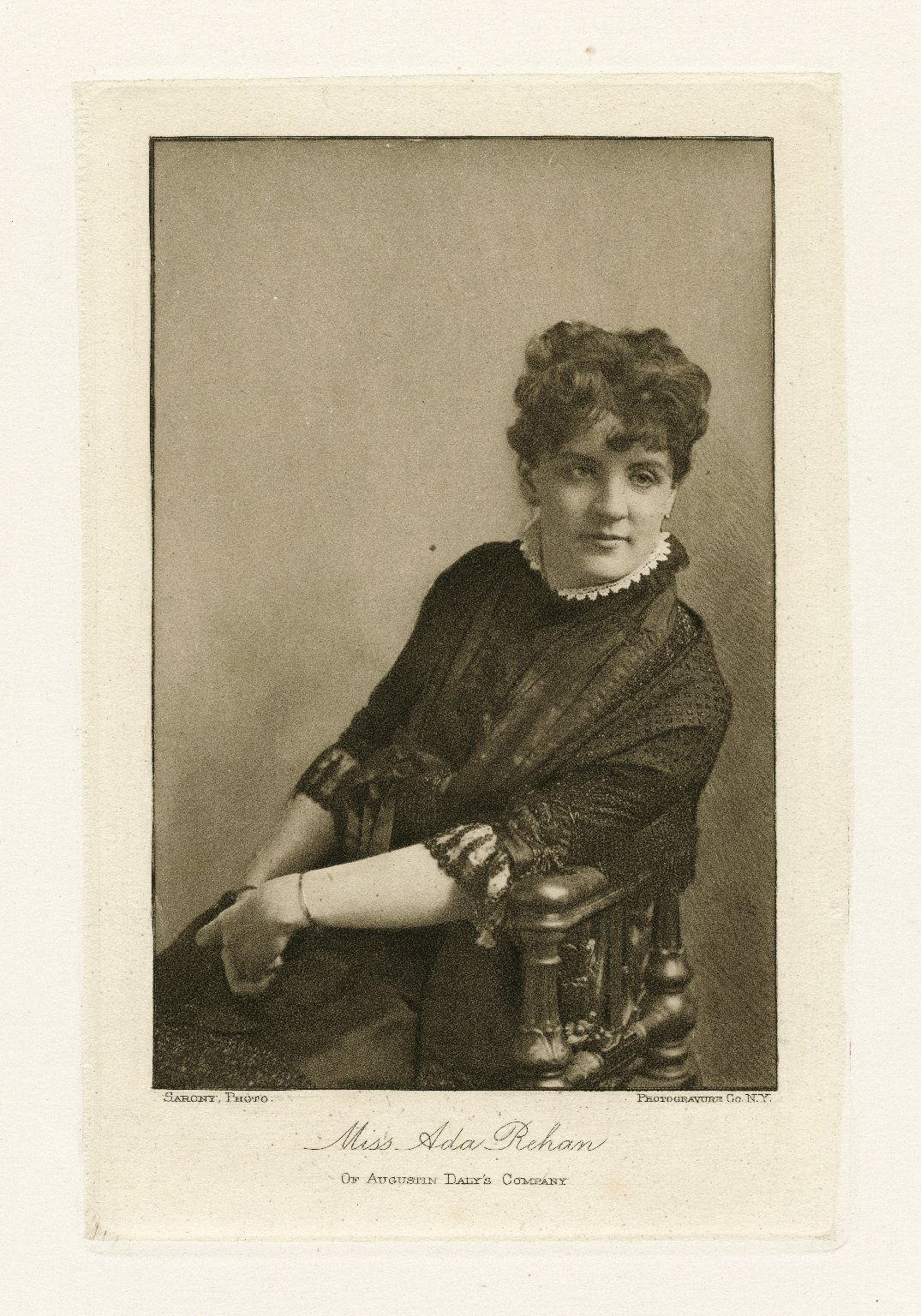 Miss Ada Rehan of Augustin Daly's company [graphic] / Sarony, photo. ; Photogravure Co. N.Y.