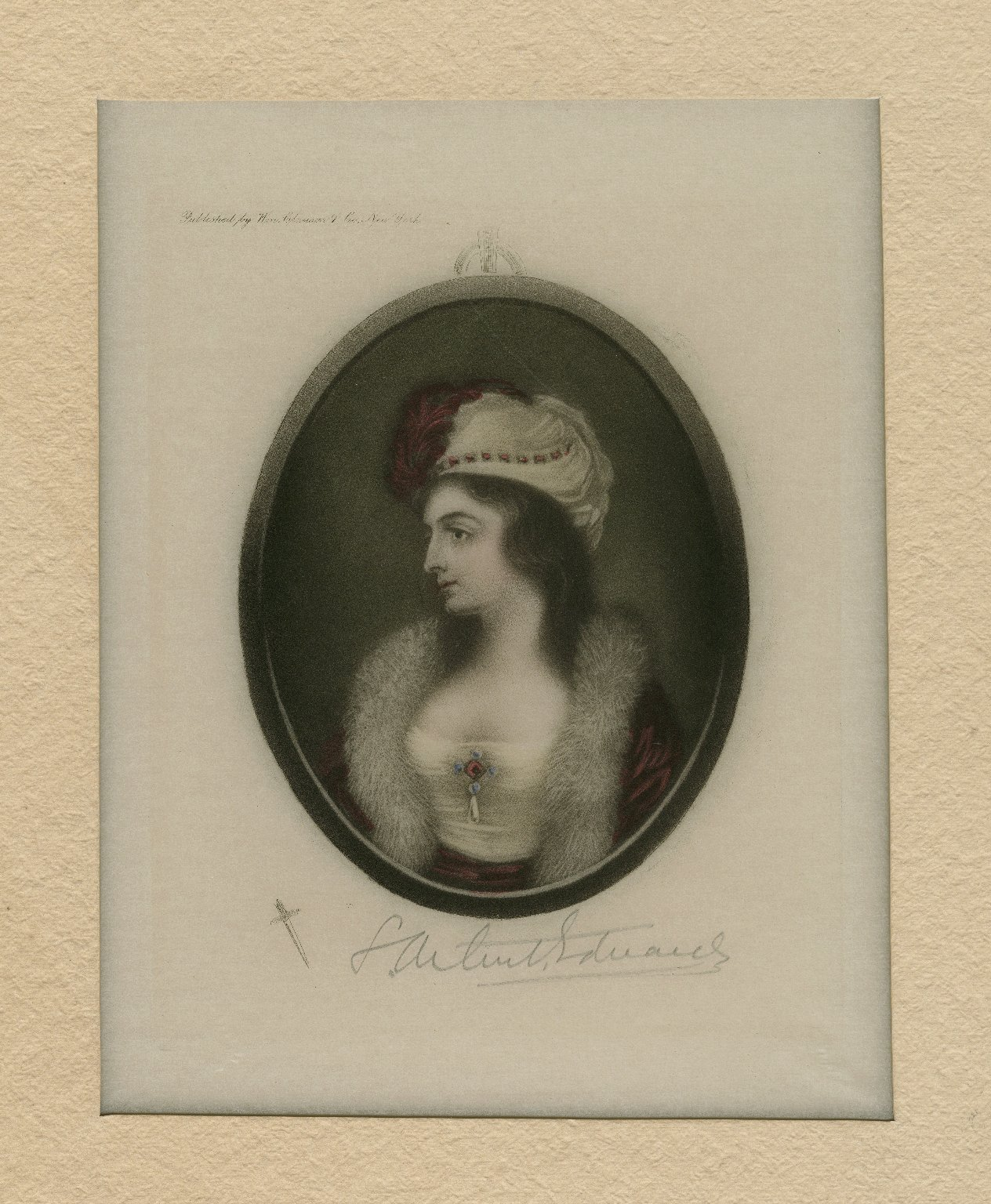 [Mrs. Sarah Siddons in a fur collar and a feathered hat] [graphic] / S. Arlent Edwards.