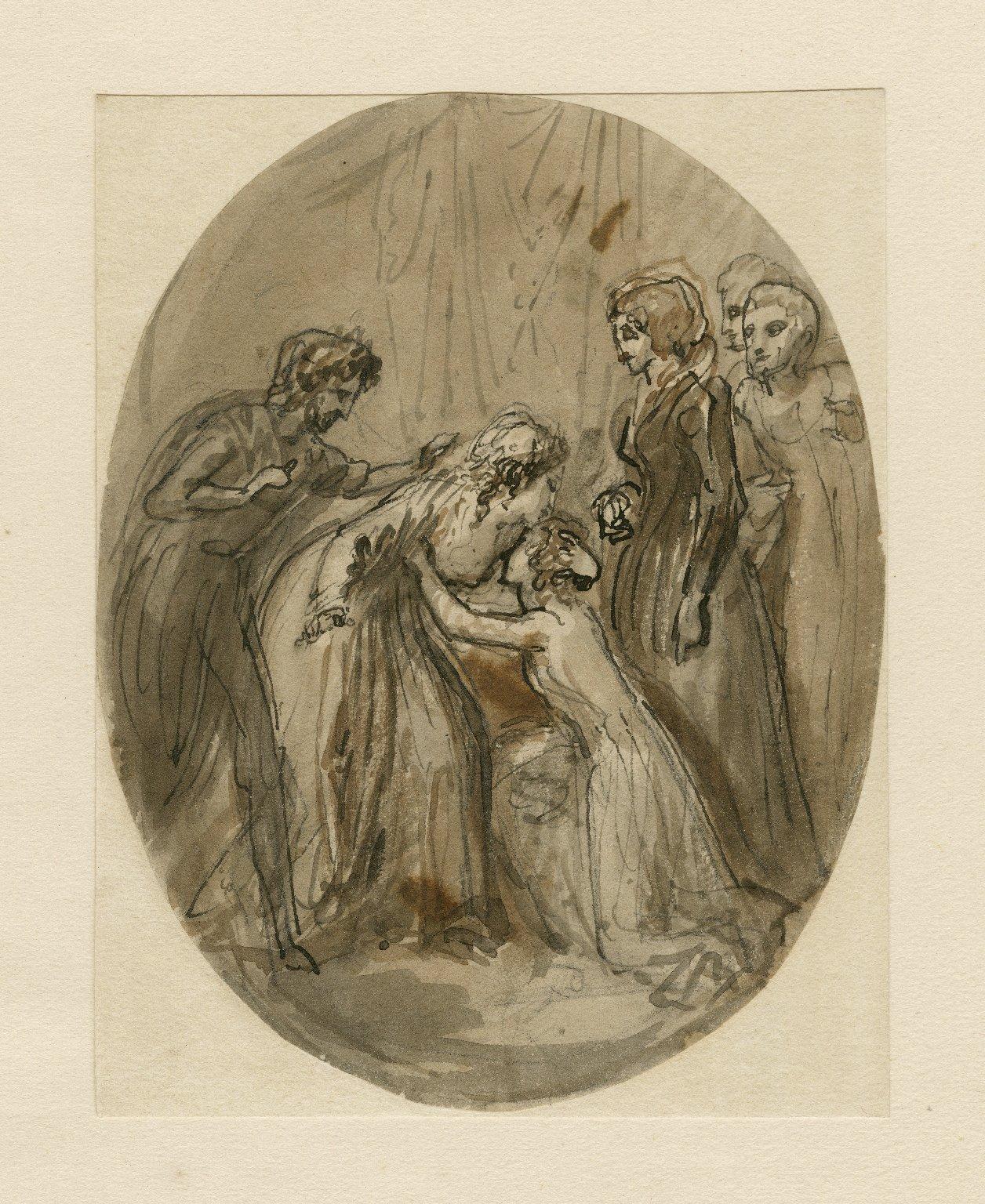 Perdita kneeling to Hermione, Winter's tale, act V, sc. 3 [graphic] / [Thomas Stothard].