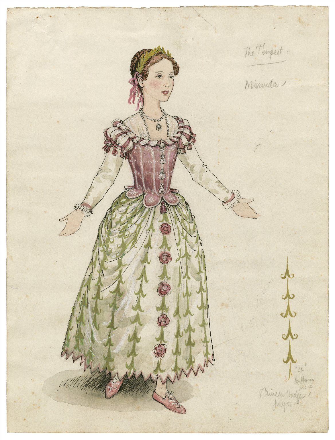 Costume for Miranda, the Tempest