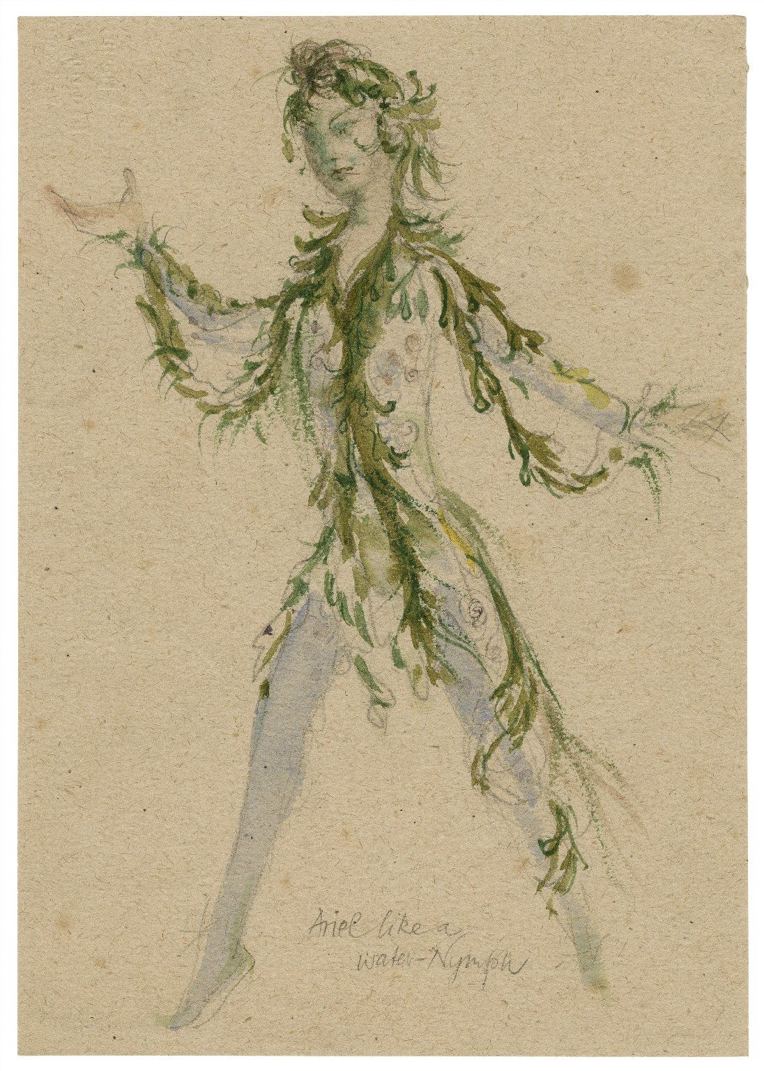 Costume for Ariel as Water-nymph, the Tempest