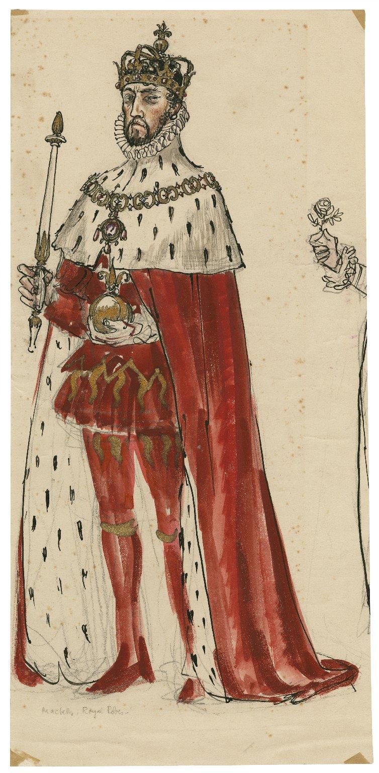 Costume design. Macbeth's coronation robes