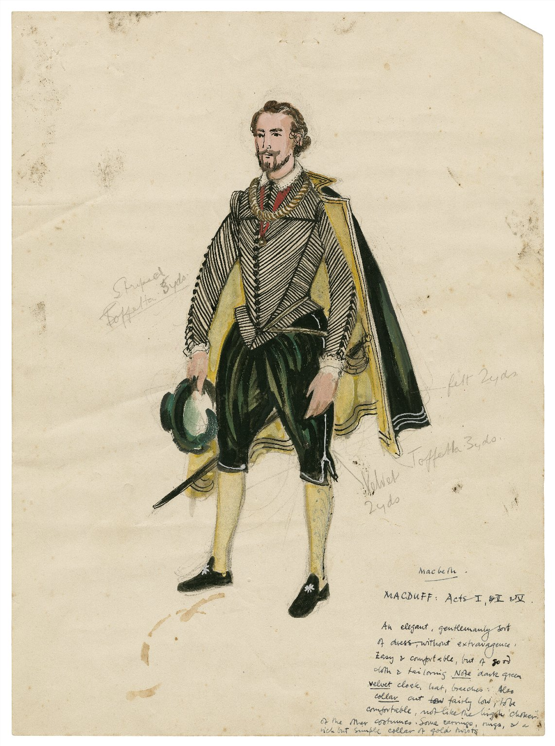 Costume design for Macduff