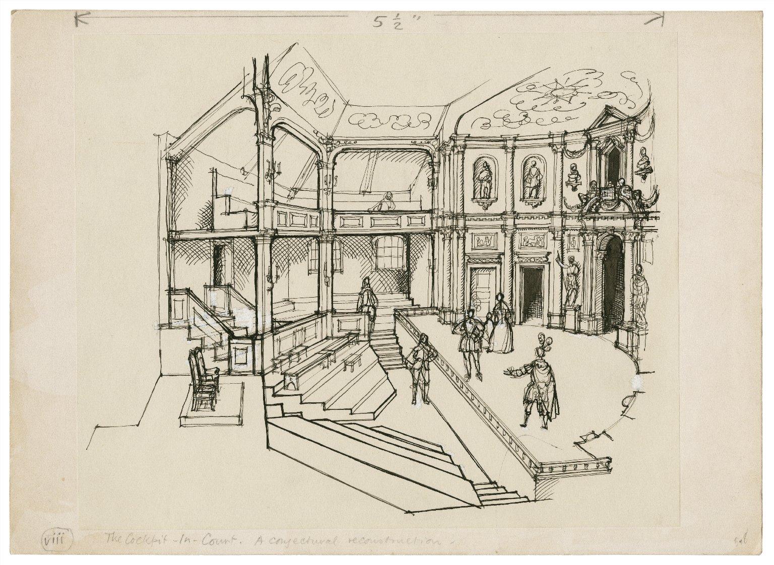 Interior of the Cockpit-in-Court Theatre, 1632