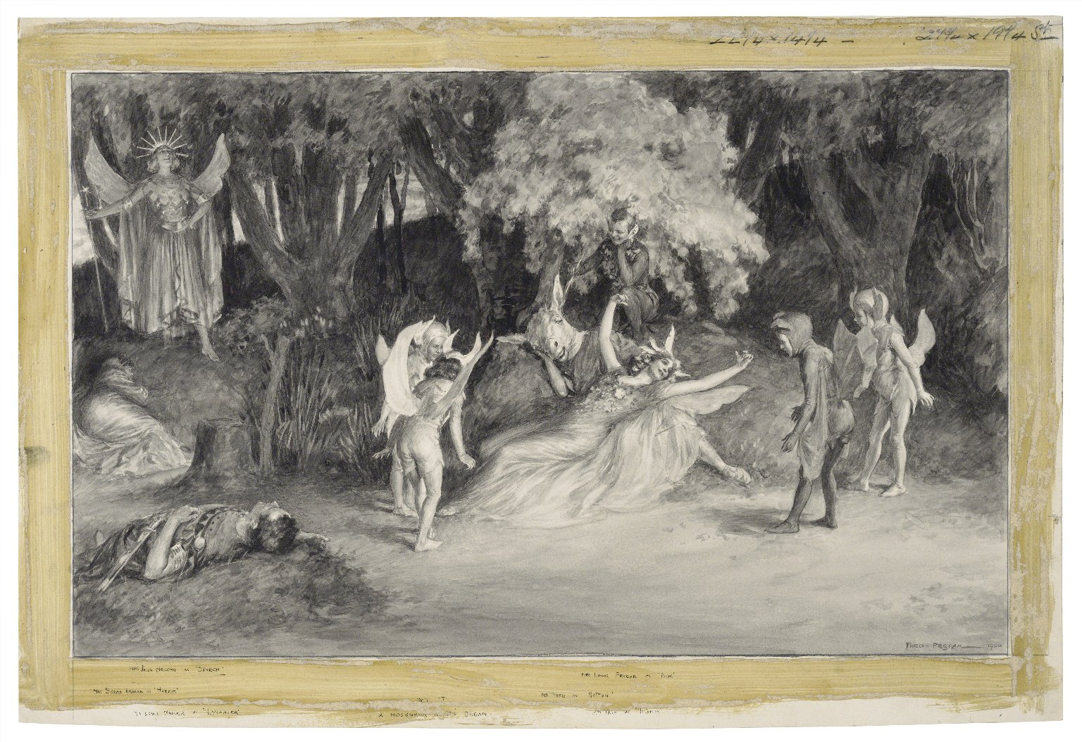 Scenes from A midsummer night's dream at Her Majesty's Theatre [graphic] / Fred Pegram.
