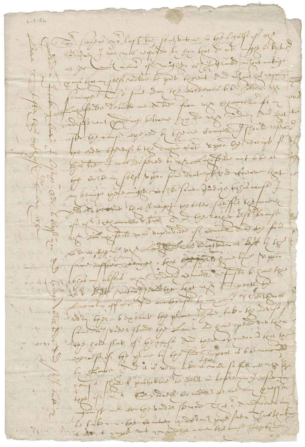 Letter from Nathaniel Bacon to John Brograve, attorney of the Duchy of Lancaster : copy