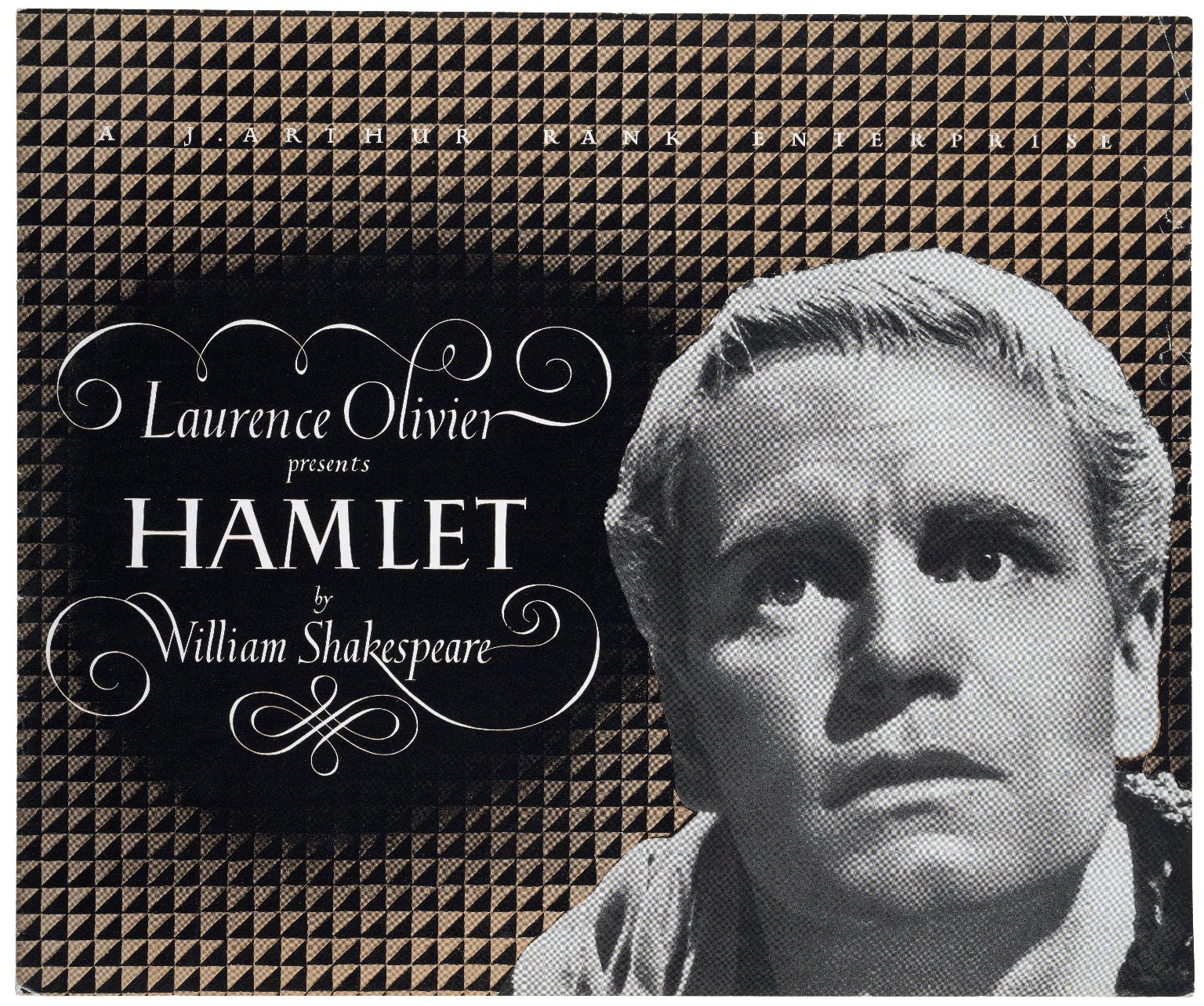 "A J. Arthur Rank Enterprise. Laurence Olivier presents ""Hamlet"" by William Shakespeare."