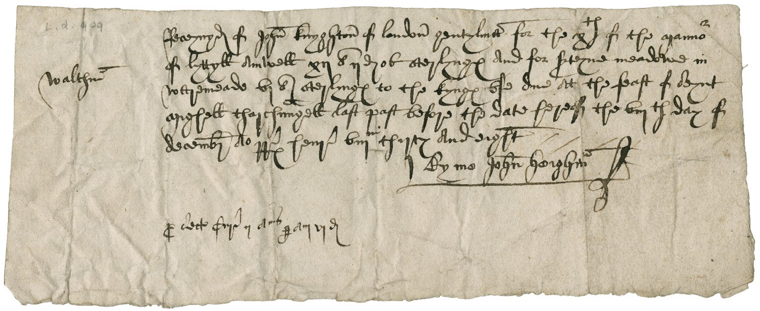 Receipt from John Heigham to John Knighton