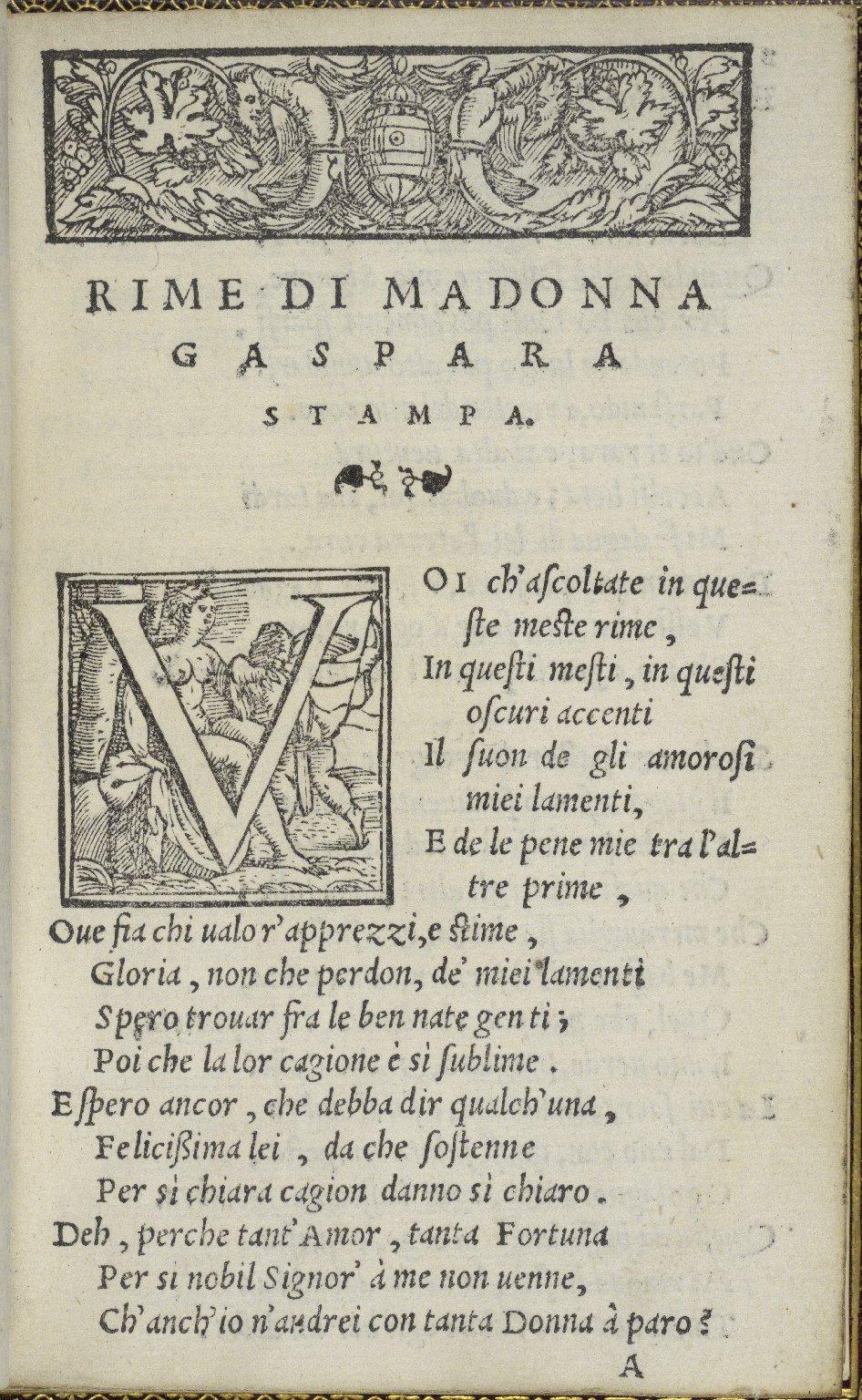 [Works. 1554] Rime / di Madonna Gaspara Stampa.