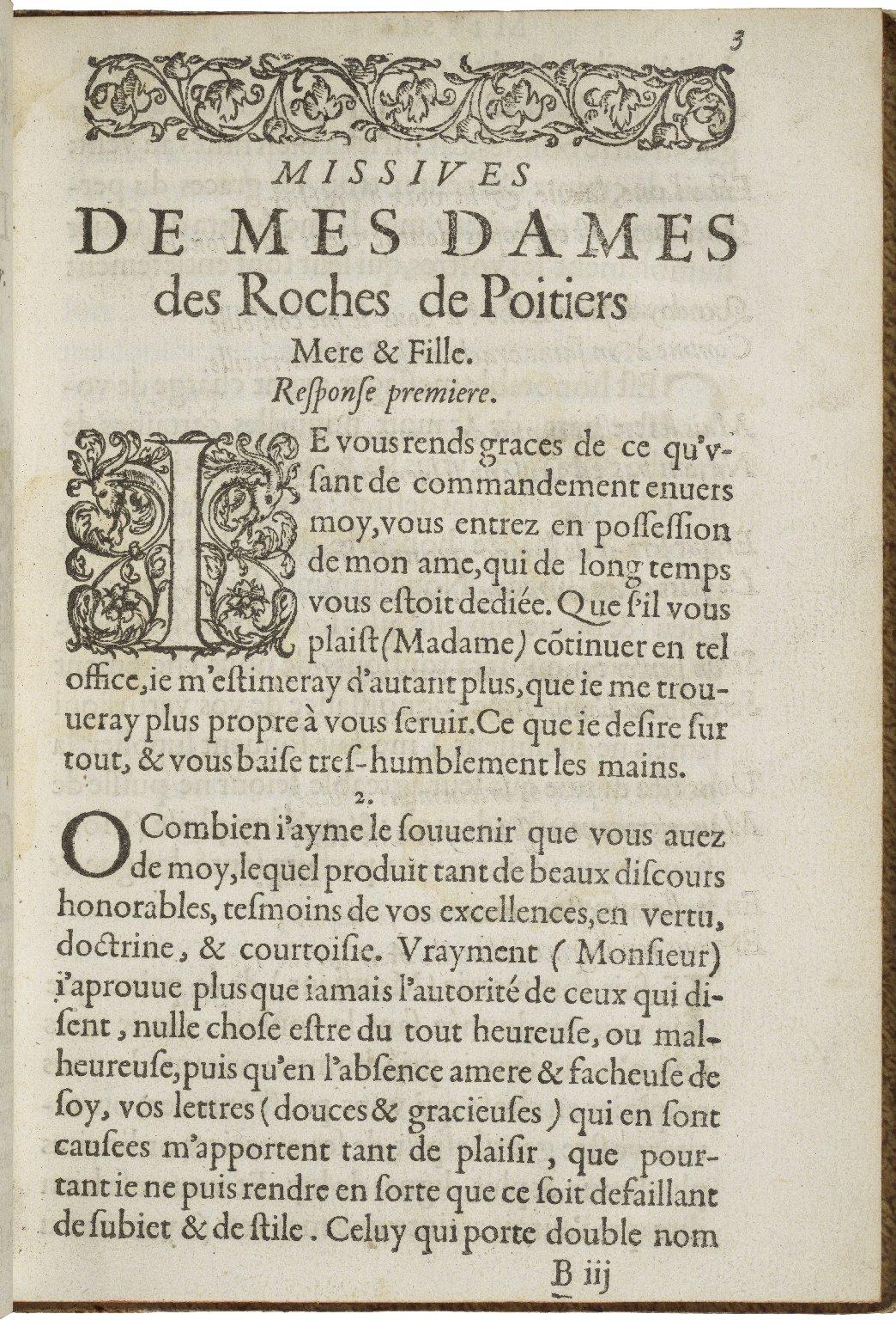 Les missiues de Mes-Dames Des Roches de Poitiers mere et fille ...