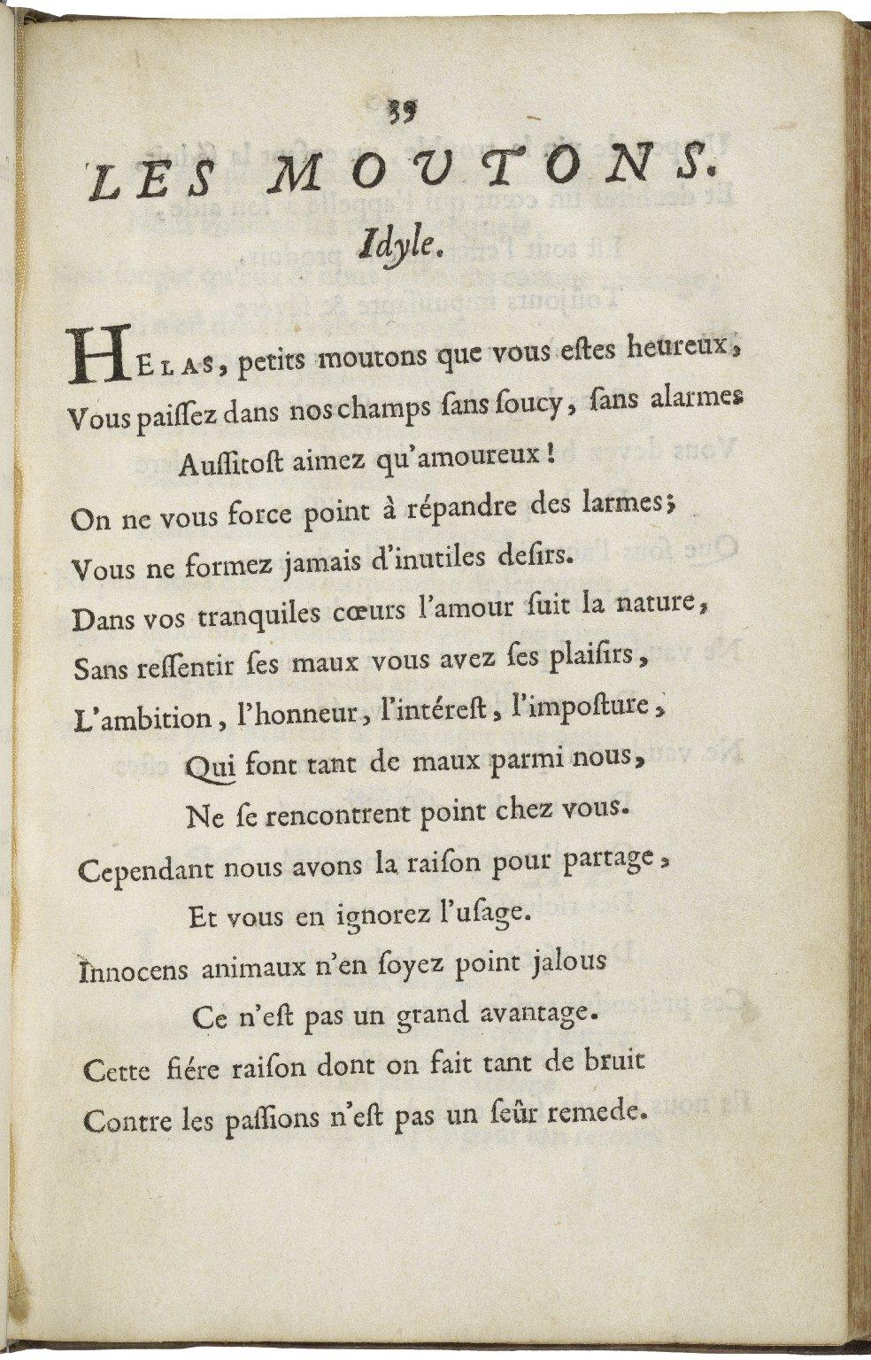 Poësies de Madame Deshoulieres.