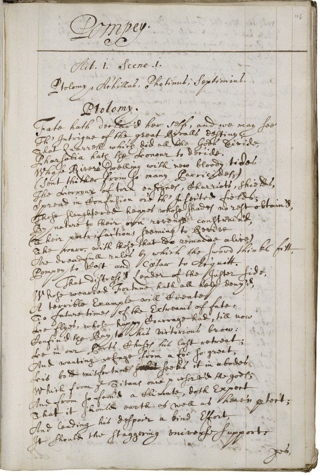 Copy of Poems by the most deservedly admired Mrs Katherine Philips, the matchless Orinda, 1669 [manuscript], ca. 1670.