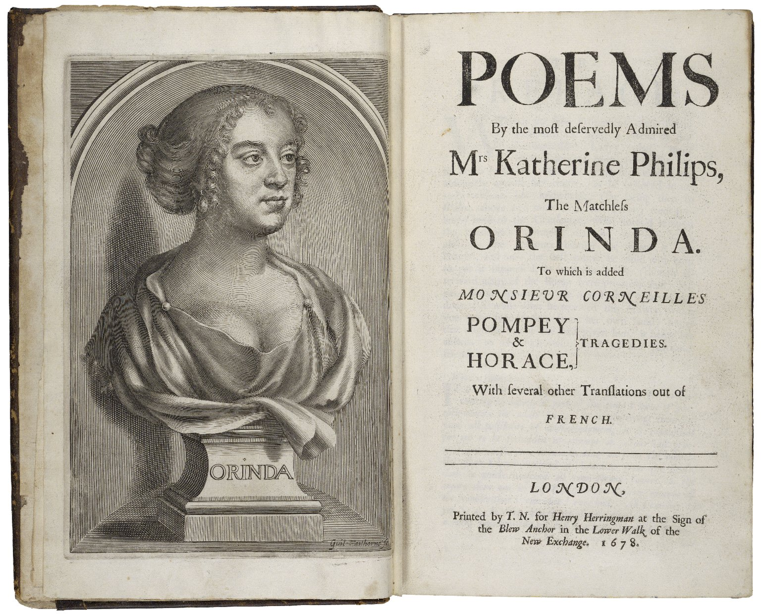 Poems by the most deservedly admired Mrs Katherine Philips, the matchless Orinda ...