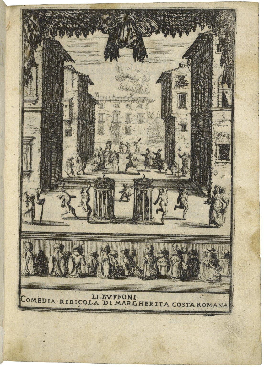Li buffoni : comedia ridicola / di Margherita Costa Romana, a Berardino Ricci caualiero del piacere dette il Tedeschino.