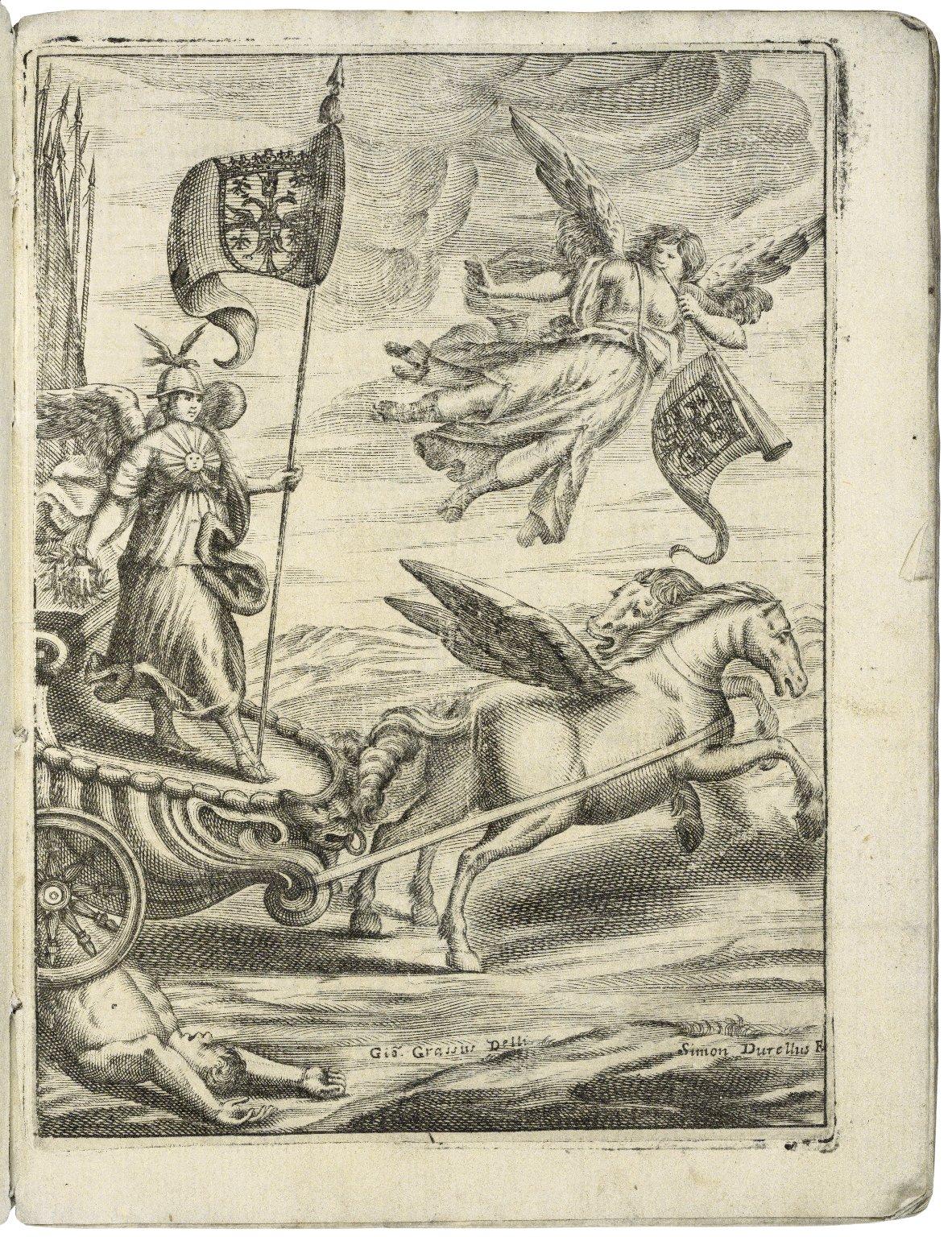 La virtù trionfante : opera regale / di d. Giulia Rangona, marchesa Ariberta ; consacrata all'augustissimo nome di S.M.C. l'imperatrice Eleonora.