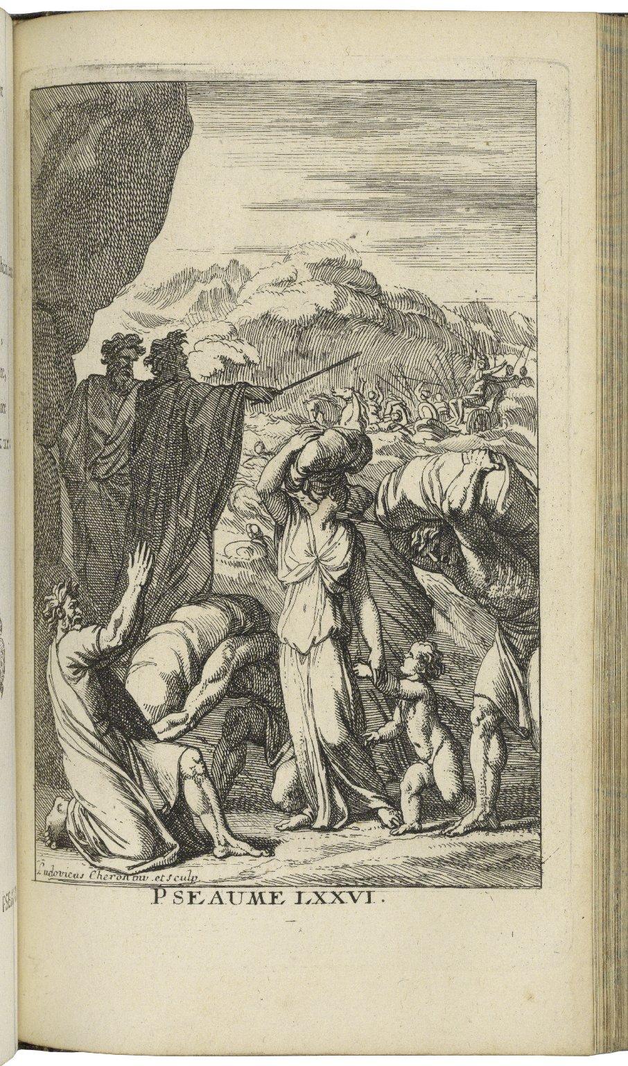 Pseaumes de David et Cantiques / nouvellement mis en vers françois ; enrichis de figures.