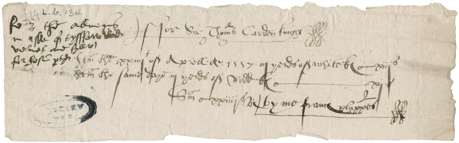 Great Britain. Office of the revels. Charges of the revelles Apryll Anno 1557.