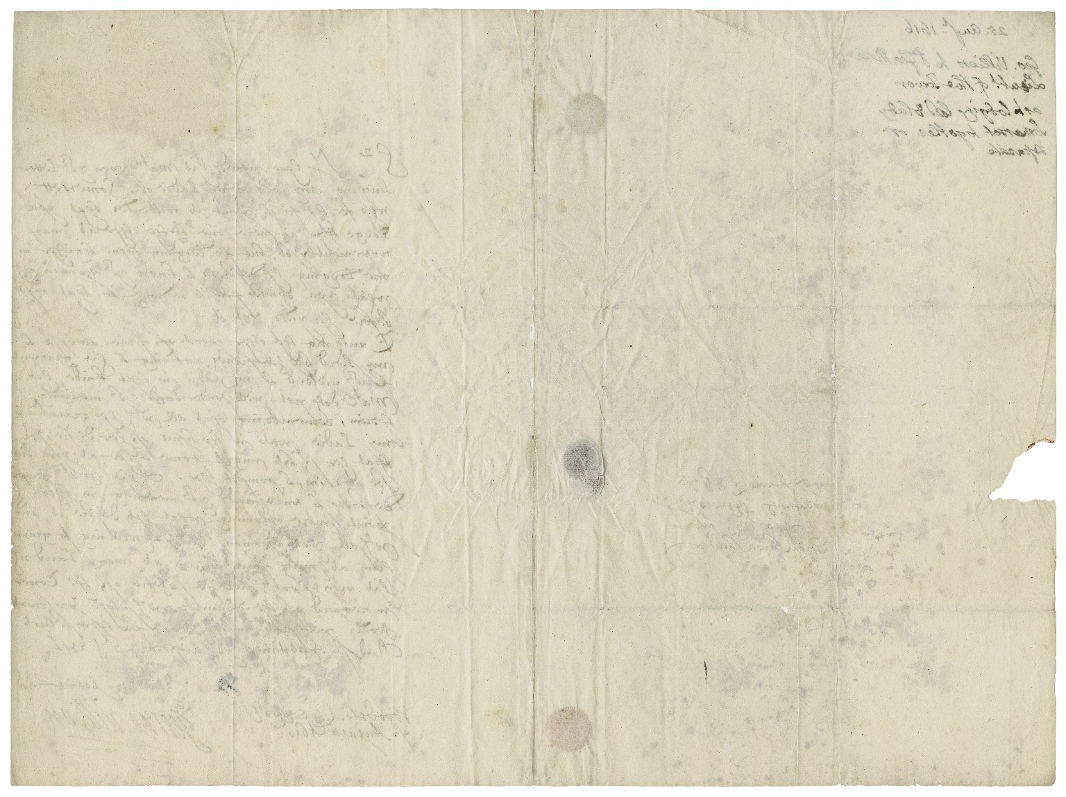 Buckingham, George Villiers, Duke of. Letter. To Sir George More. Woodstock.