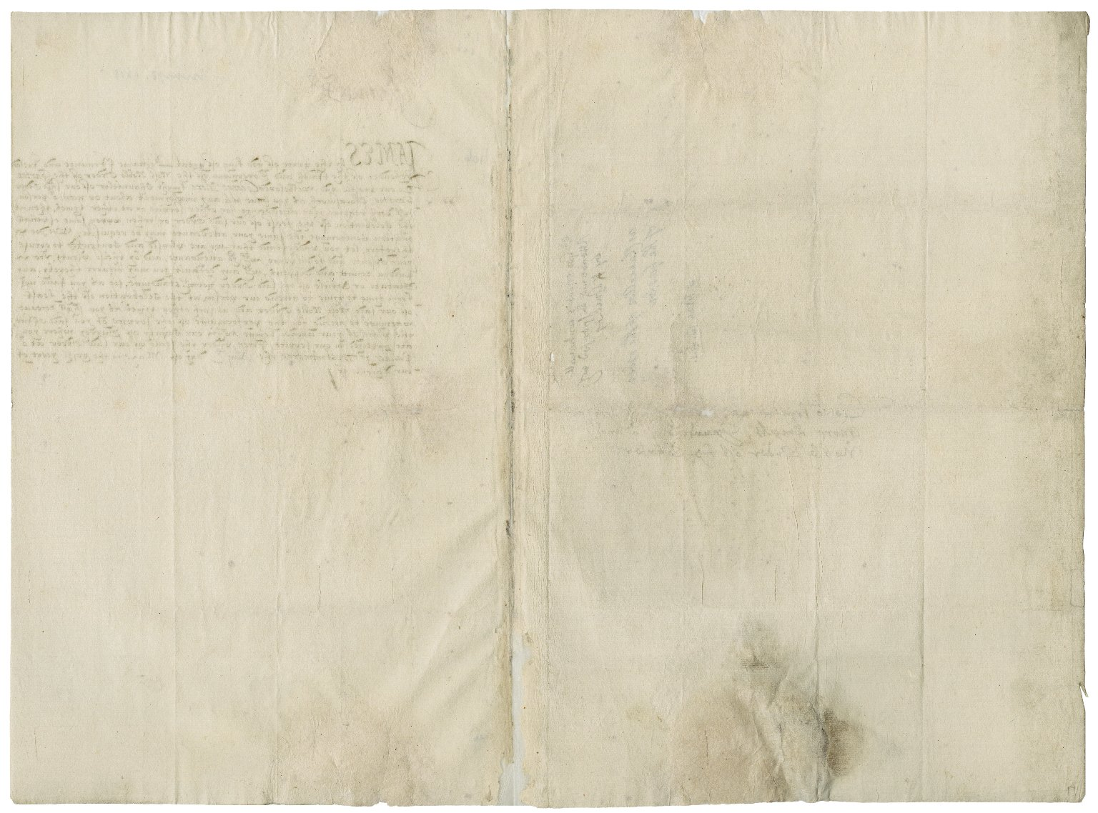 Great Britain. Sovereigns, etc., 1603-1625 (James I). Warrant to Sir George More, Chancellor of the Order of the Garter. Westminster.
