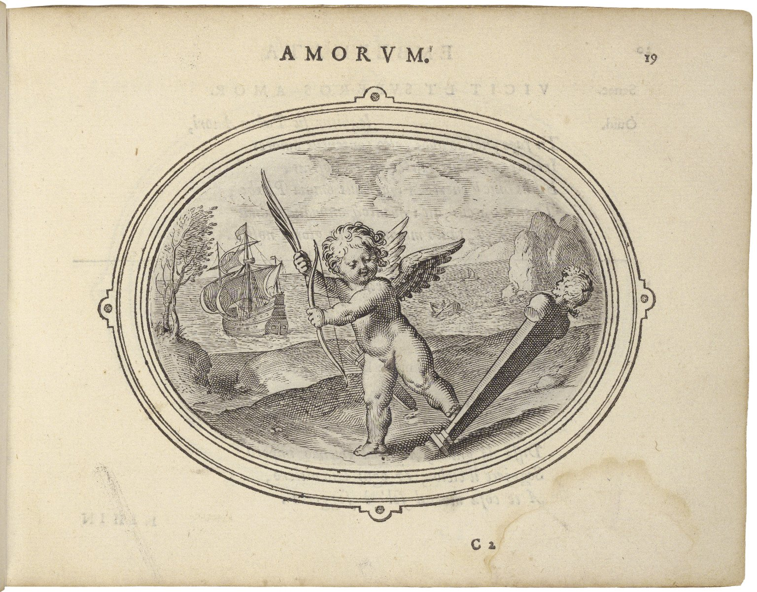 Amorum emblemata, figuris æneis incisa studio Othonis VænI Batauo-Lugdunensis. =Emblemes of loue. With verses in Latin, English, and Italian.