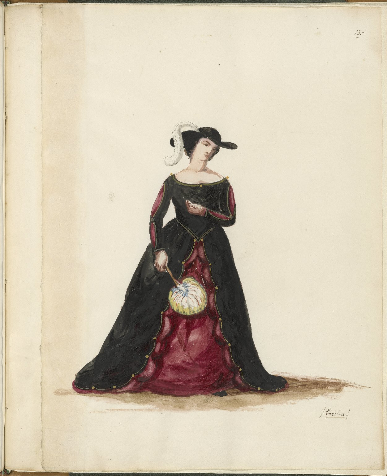 "Costume of ""Othello"""