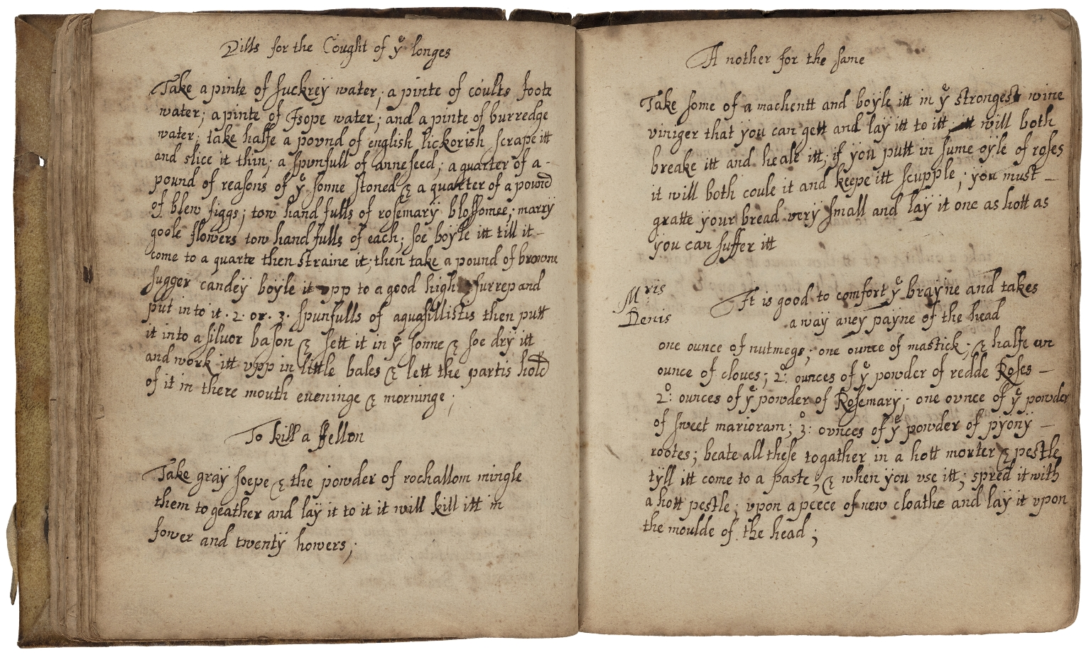 Receipt book of Margaret Baker [manuscript]