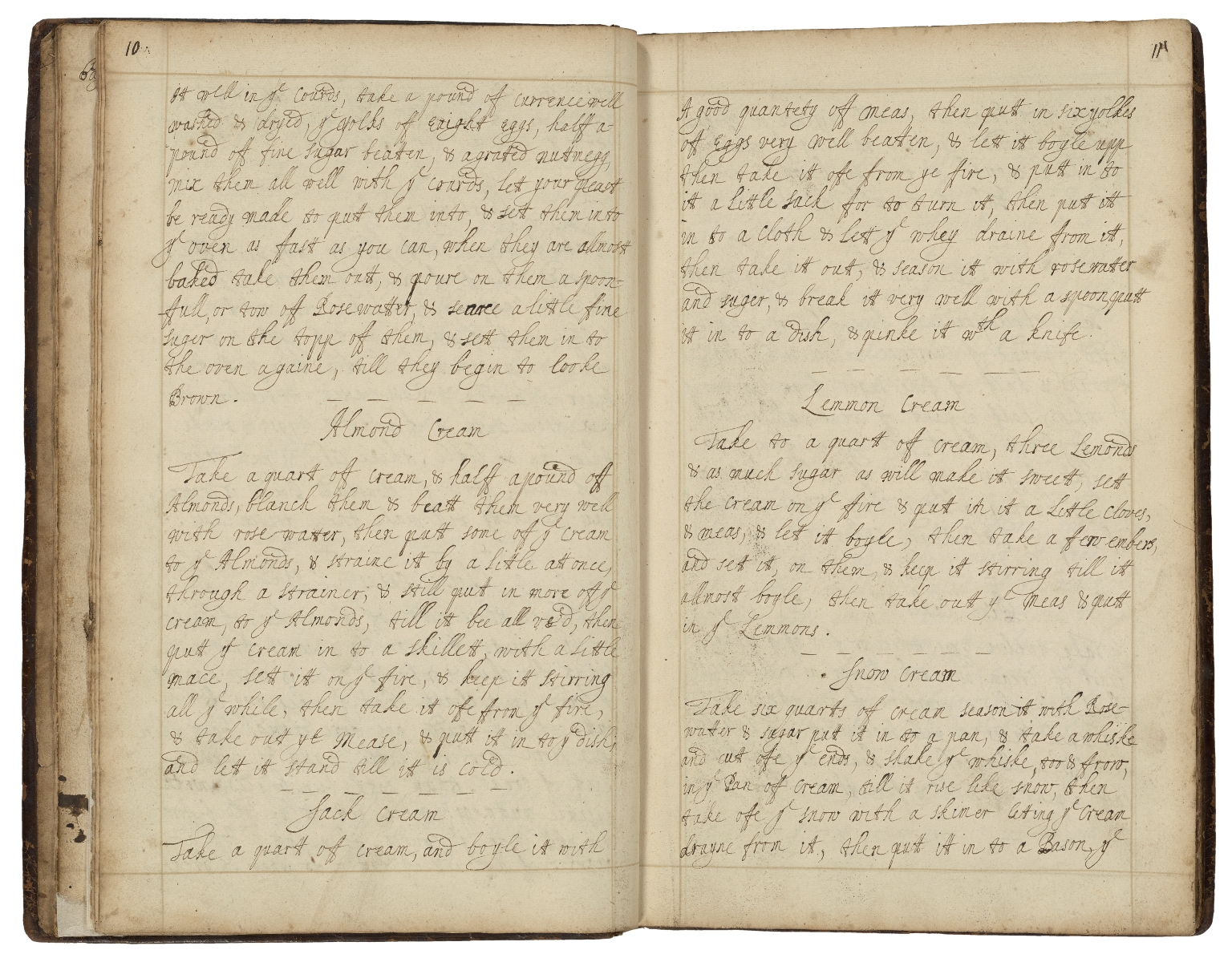 Receipt book of Mary Hookes [manuscript].