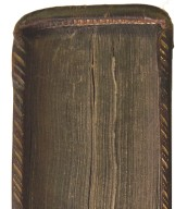 Solid and pin dot crosshatched fore-edge roll and headband (detail), STC 7228 c.2.
