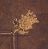 Crowned Tudor rose stamp (detail), STC 17311 c.1.