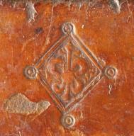 Fleur-de-lys lozenge stamp (detail), INC H190 c.2.