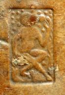 Small monkey stamp (detail), INC J467.
