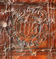 IHS rondel stamp (detail), INC P438.