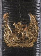 Crest on spine (detail), STC 1585 copy 2.