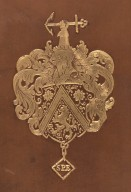 Charles John Shoppee coat of arms centerpiece (detail), STC 4504 copy 1.