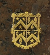 Coat of arms (detail), DA135 W4 1597b copy 2 cage.