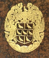Coat of arms (detail), DA396 A22 S2 cage.