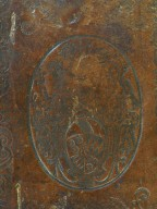 Back cover coat of arms bottom (detail), PN6349 S6 1635 cage.