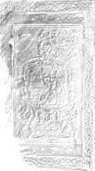 Front cover panel rubbing, 162- 224q.