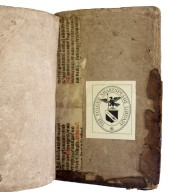 Inside back cover recycled vellum manuscript, 173- 592q.