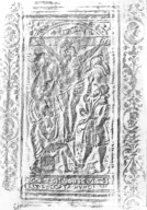Back cover center panel stamp rubbing, 173- 572q.