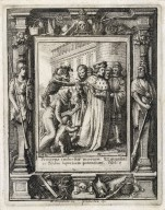 Princeps induetur moerore. Et quiescere faciam superbiam potentium, Ezech. 7 [graphic] / H.B. i. [center plate] ; W.H. [center plate] ; Ab. a Diepenbecke inu. [border] ; W. Hollar fecit 1651 [border].